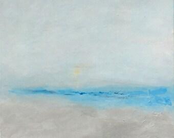 Origine Ocean Mer Paysage Abstrait Acrylique Plage Moderne