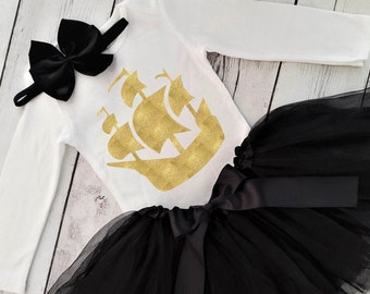 MOMBEBE COSLAND Baby Girls Halloween Pirate Skirt Outfit Set