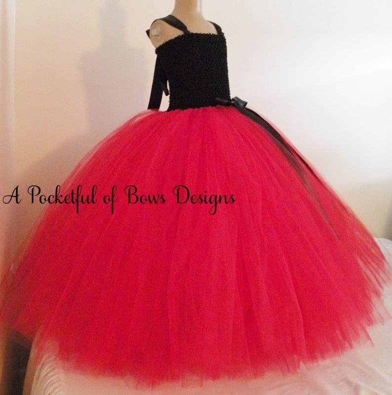 Black and Red Flower Girl Tutu Dress Girls Formal Gown Ball  ce15475be