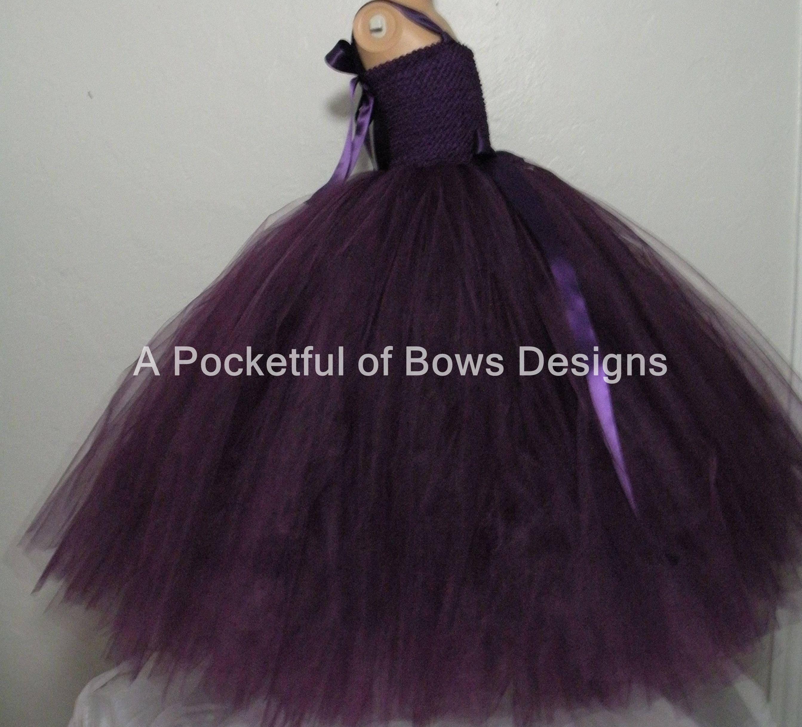 Plum Flower Girl Dresses