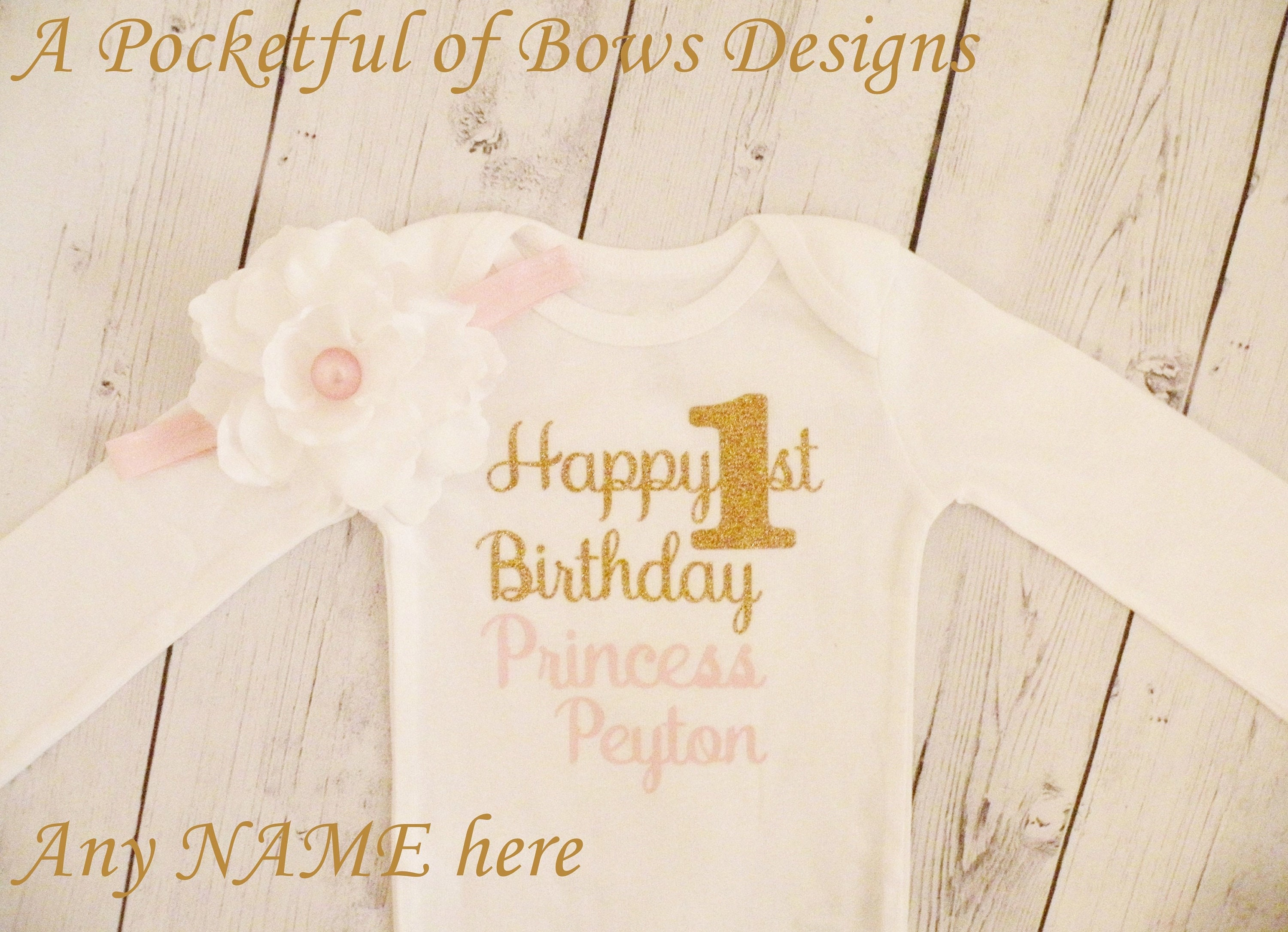 Pink And Gold Baby Toddler Birthday Shirt White Flower Etsy