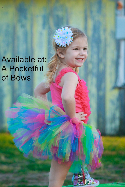 6974867a1 Rainbow Tutu Skirt Toddler Bright Rainbow Tutu Toddler Tutu | Etsy