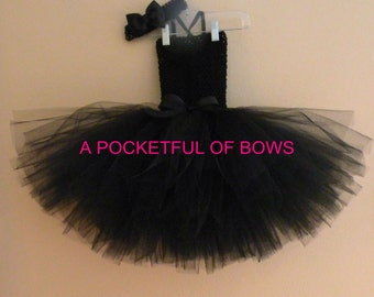 Black Tutu Dress, Toddler Tutu Dress, Black Tutu
