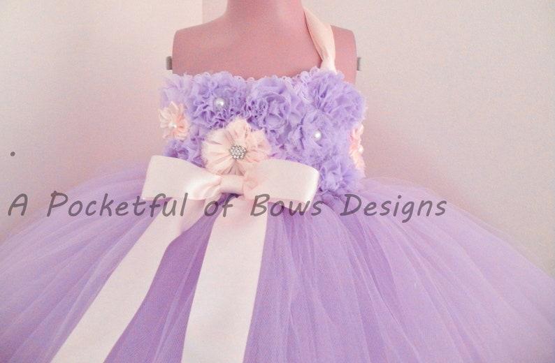 d0fe0d9d0e2d Lavender Flower Girl Tutu Dress Lavender Toddler Flower Girl | Etsy