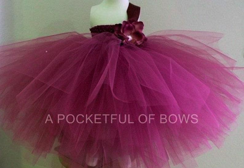 5ed29d8e17 Burgundy Flower Girl Tutu Dress Toddler Girls Wine Ball Gown   Etsy