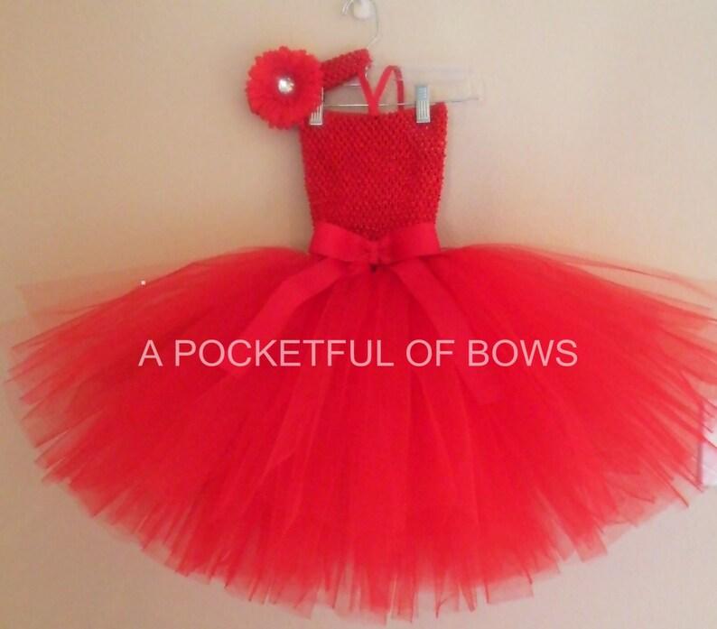 f225a46c0c9f3 Robe Tutu rouge enfant en bas âge bébé fille Tutu rouge Noël