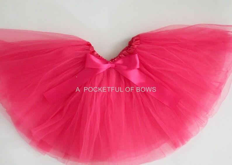 Hot Pink Tutu Skirt Toddler Girls Hot Pink Tutu Dress Up image 1