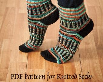 Sock Pattern for Knitting -- PDF Version -- Tree of Life Socks