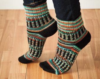 Sock Pattern for Knitting -- Printed Copy -- Tree of Life Socks