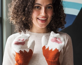 Kitty Mitties Knitting Pattern PDF Digital Download