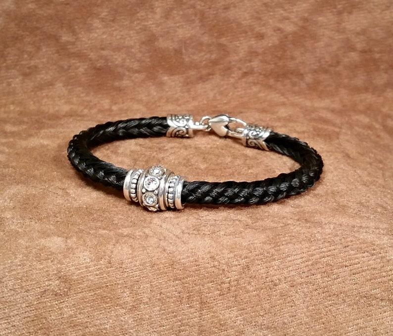 fcac4aea814a Horsehair Bracelet with Brighton Glam Clear Swarovski Crystal