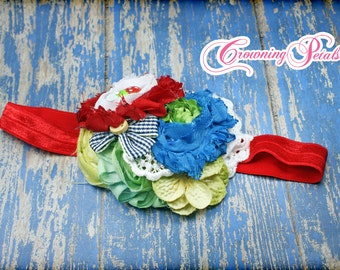 Red, Blue, Yellow Hair Clip, Hair Piece, Made to Match Matilda Jane, Love Bug Knot Headband, M2M Limeade Ellie, Strawberry, Wonderful Parade