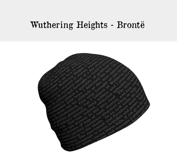 0541a20c467 Wuthering Heights Slouchy Beanie Hat Emily Bronte Gifts for