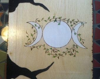 Goddess with tree branches book of Shadows scrapbook or Journal
