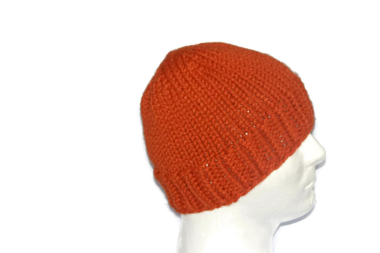 4714a8da2d9a51 ... Warm Winter Hats For Men: Warm Winter Beanie Hat Pumpkin Orange Mens Hat