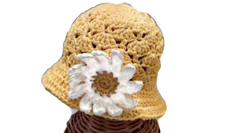 debfb3d65c36d Baby Girl Floppy Sun Hat Infant Hat Yellow Flower Hat