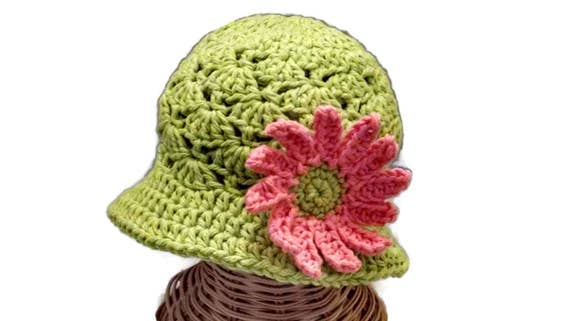 Baby Girl Floppy Sun Hat Infant Hat Green Lime Green  def1dbbc761