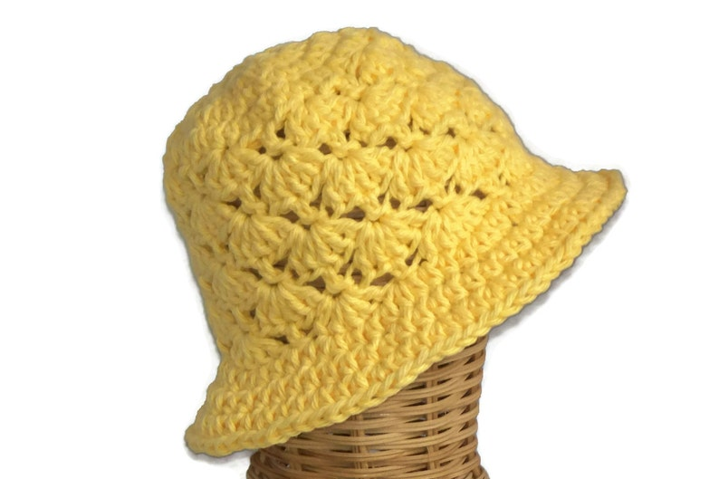 dff332a44a68a Baby Girl Floppy Sun Hat Infant Hat Yellow