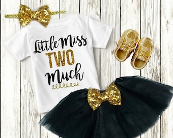 2nd Birthday Outfit Girl, Two Year Old Birthday Girl Clothing,  2 Year Old Birthday Girl, Second Birthday Girl, Clothes, Birthday Shirt