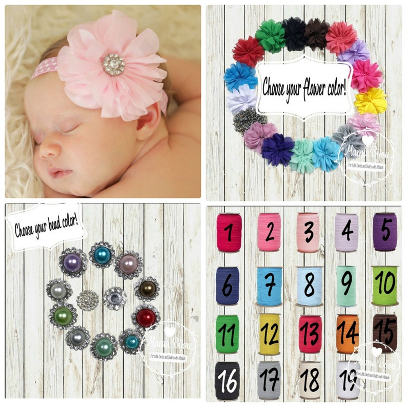 Clode for 1-3 Year Baby Gril Flower Headband Elastic Nylon Unique Cute Hair Bands Photography Prop Set of 3