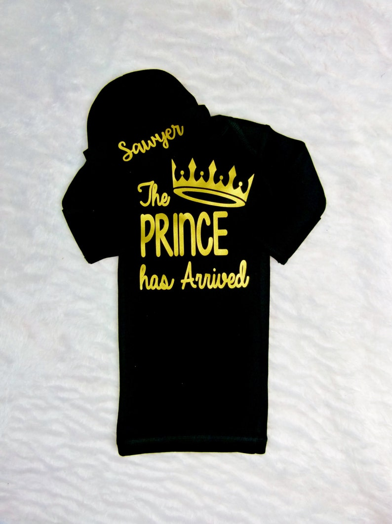 15b3456ecc0b Prince Has Arrived Newborn Boy Take Home Outfit Baby Boy