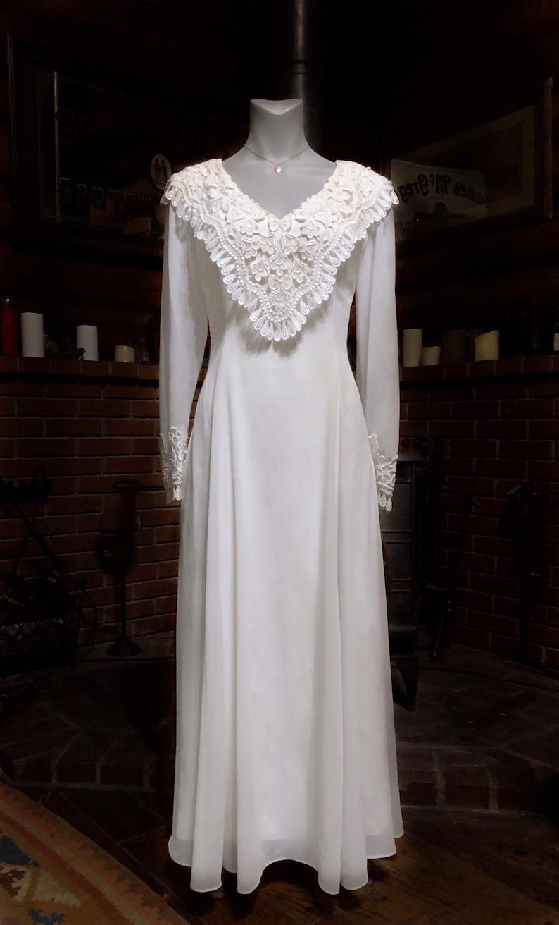 9932808a372 Jessica McClintock BRIDAL Vintage WEDDING Dress Sheer