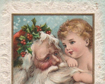 Brundage Santa Claus With A Baby New Year Victorian Album Card