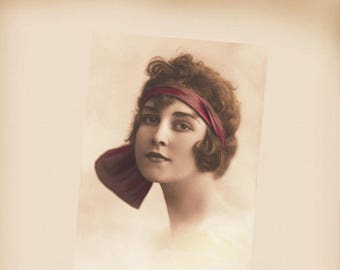 Art Deco Lady Flapper New 4x6 Vintage Postcard Image Photo Print LD61