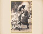 Playful Edwardian Lady New 4x6 Vintage Postcard Image Photo Print LE70