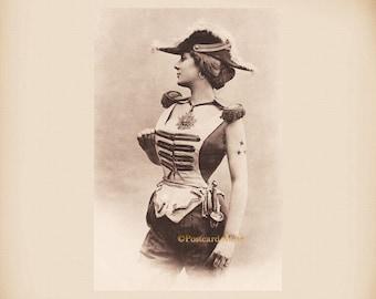 Woman General New 4x6 Vintage Postcard Image Photo Print LE231