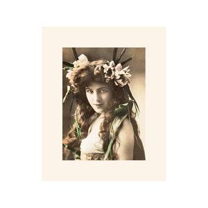 Fantasy Moon Lady Vintage Image Blank Cards 10 pc Set SD131