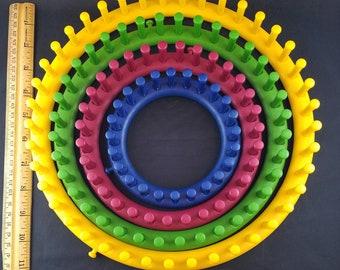 Set of 4 Circle Knitting Looms--Four Sizes