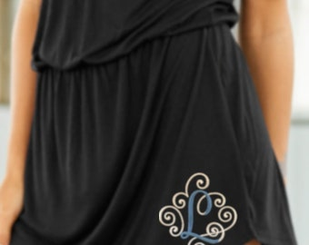 48150e1326 Swim Cover-up, Pool Cover-up, Beach Cover-up, Bella and Canvas V-neck  Dress, Black Dress, Gray Dress