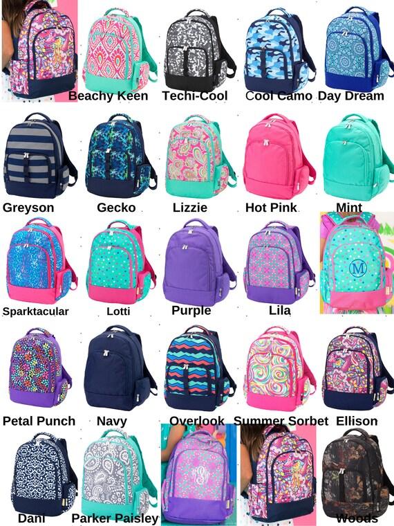Boys Backpacks Girls Backpacks Monogrammed Backpacks Etsy