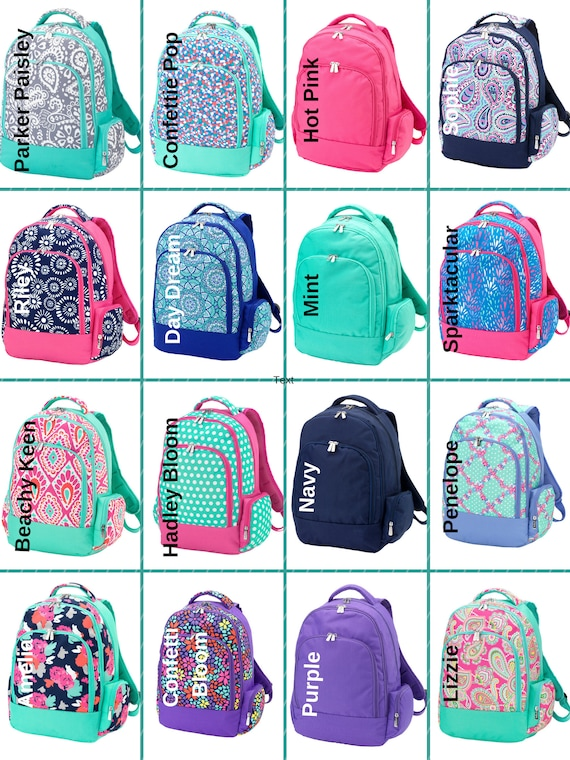 2809582f6b10 Girls Backpacks Monogrammed Backpacks Back To School