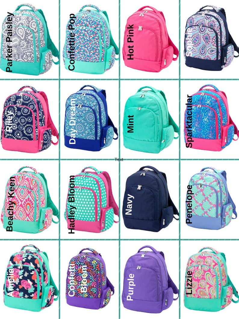 2809582f6b10 Girls Backpacks Monogrammed Backpacks Back To School