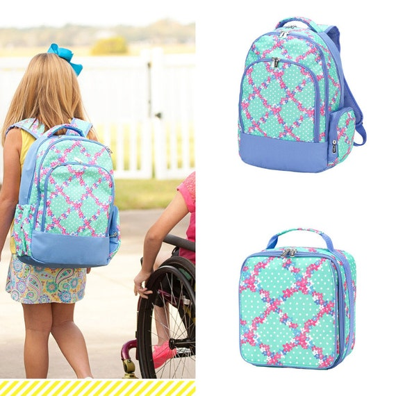 67fc18d7cc Girls Personalized Backpack Back To School Girls Lunchbox