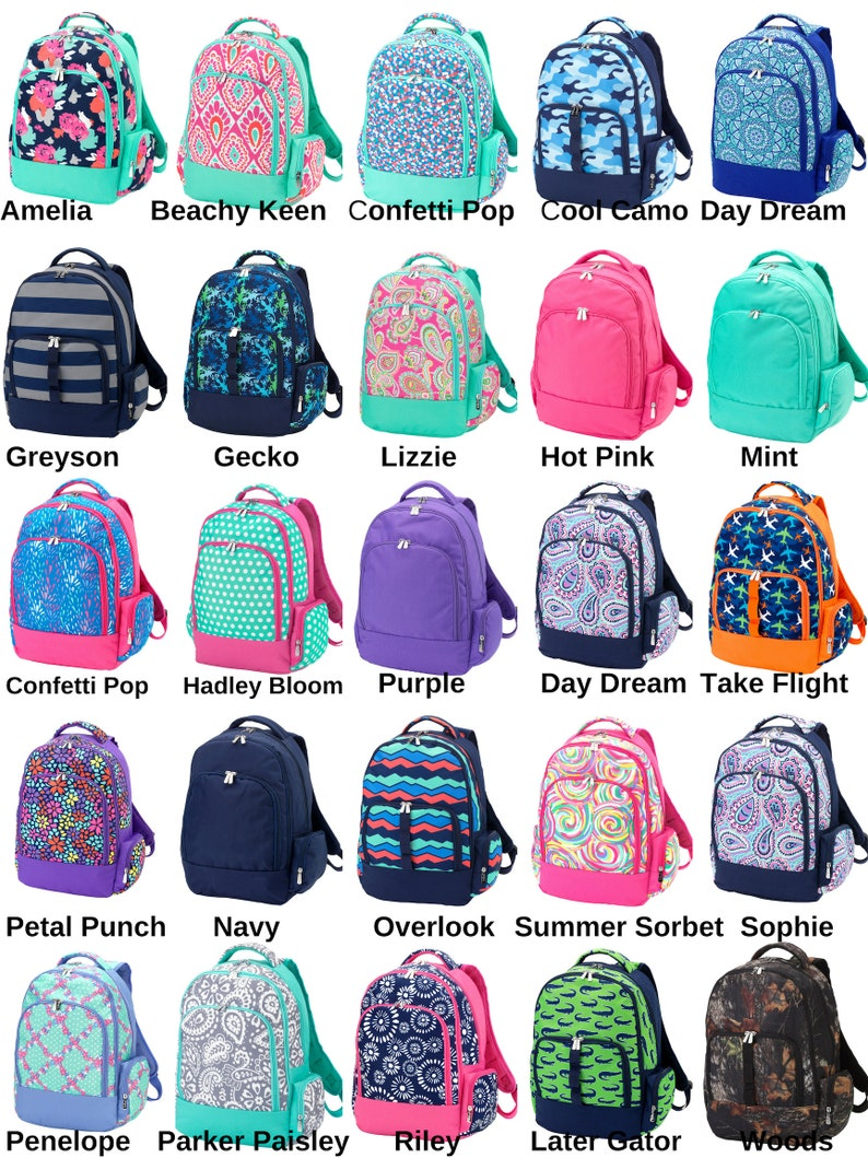 Boys Backpacks Girls Backpacks Monogrammed Backpacks  007e88eff1f65