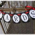Black and White Cards Banner | Black Tie Wedding Decor, Shower Decorations, Birdcage Banner, Birdcage card box, Wedding Decor, Wedding Sign