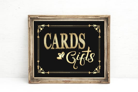 Cards & Gifts Wedding Sign