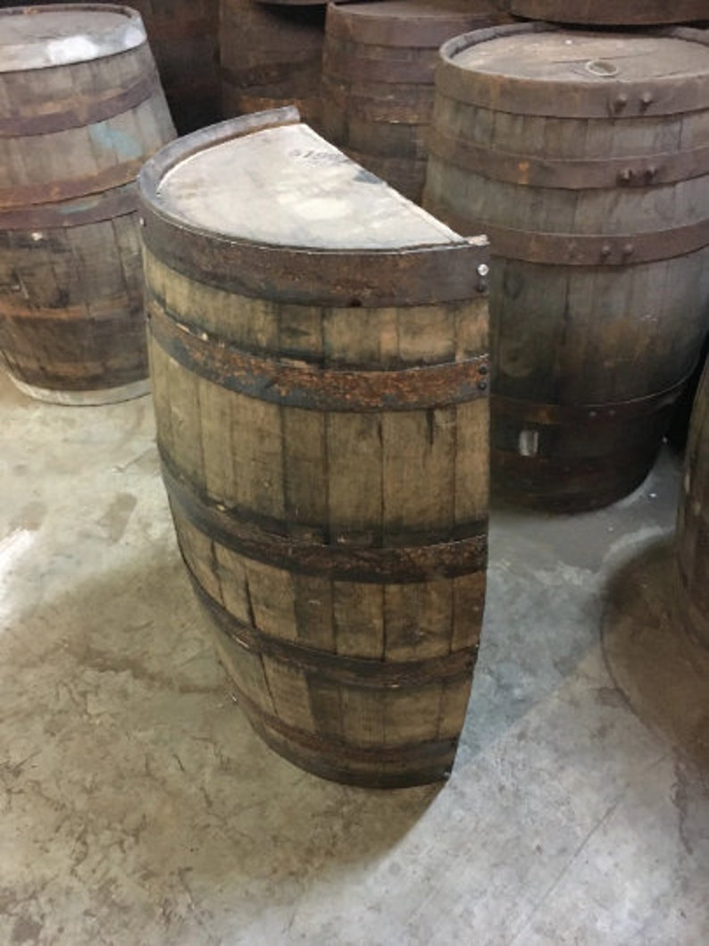 Whiskey Barrel Half Cut Half A Whiskey Barrel Barrel Half Whiskey Barrel Vertical Cut Barrel Planter Barrel Table Barrel Coffee Table