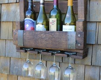 Reclaimed Wine Barrel  Wine Rack, Pallet Wine Rack, Pallet wood wine rack, Wine bottle holder, Pallet Shelf, Rustic wine rack, Wedding gift