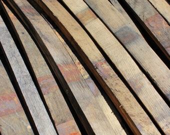 Whiskey Barrel Oak Staves - Bourbon Barrel American Oak Barrel Staves - DIY Project Wood - Reclaimed Wood, Rustic Wood, Weathered Wood