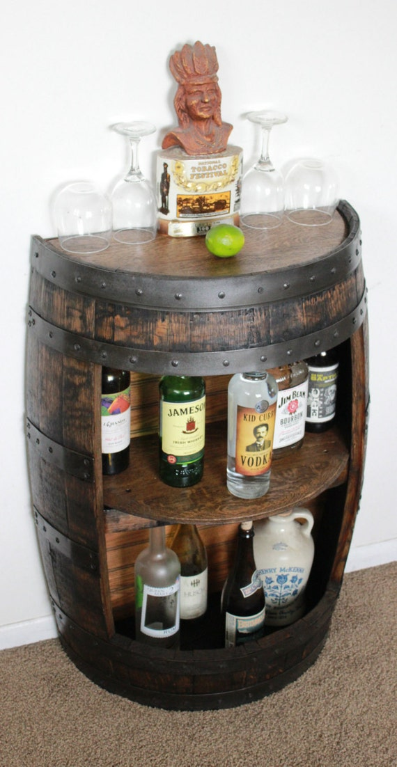 Whiskey Barrel Half Bar Large 53 Gallon Bourbon Barrel Wine | Etsy