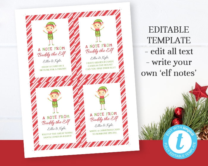 Printable Elf On A Shelf Notes From Your Elf Elf On A Shelf Etsy