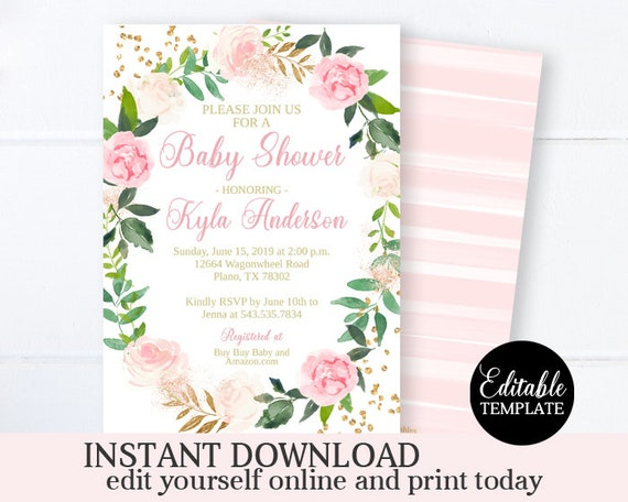 It is a photo of Printable Baby Shower Invitation Template intended for background