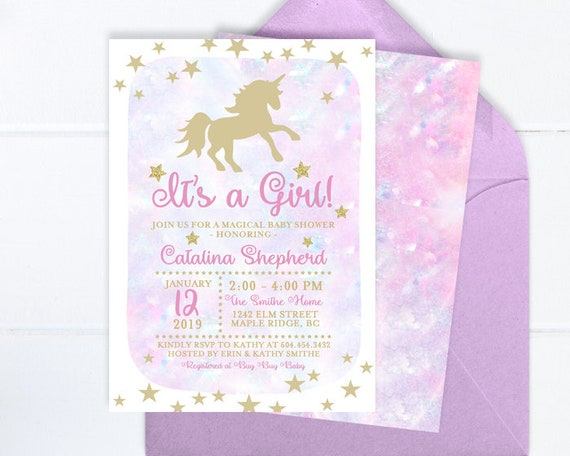 Unicorn Baby Shower Purple and Pink Magical Rainbows Party Printable Games