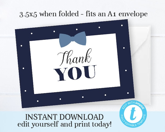 Navy Blue Baby Shower Invitation Little Man Baby Boy Shower Invitation Kit Instant Download Editable File Printable Baby Shower Invite Kit