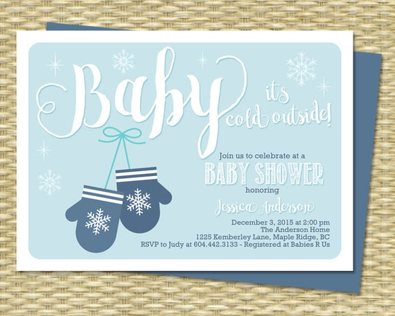 winter baby shower invitation baby it s cold outside baby shower