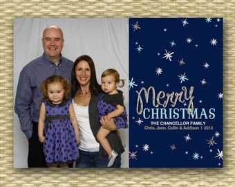 Photo Christmas Card Custom Christmas Card Christmas Photo Card Holiday Photo Card Modern Christmas Card Printable Christmas Card